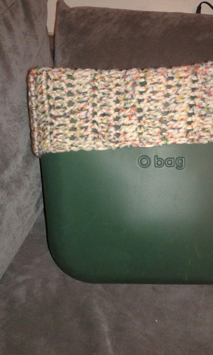 Bordo o-bag uncinetto lana