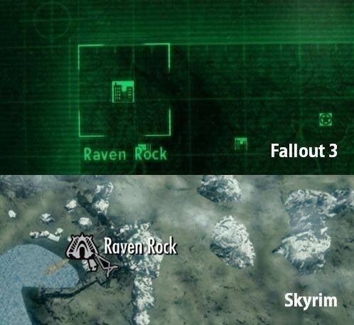 Fallout 3 and Skyrim (Solstheim) both have Raven Rock. How have I never realized this?