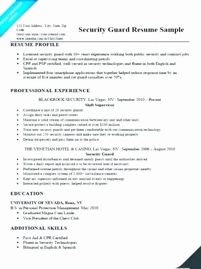 Entry Level Police Officer Resume Lovely 11 12 Resume Samples For Security Guard In 2020 Job Resume Examples Good Resume Examples Resume Examples