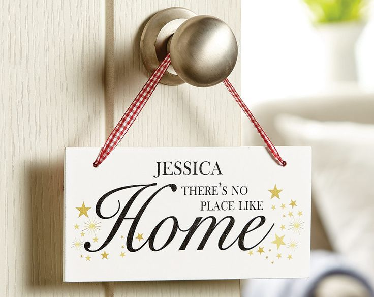 Personalised White Wooden Home Sign £18 Ready to hang from the jute twine or ribbon included. KLife Kleeneze