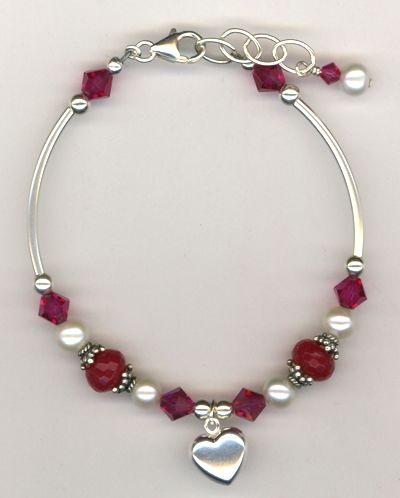 Revel In The Love ~ Swarovski Crystal Pearl Sterling Silver Bracelet