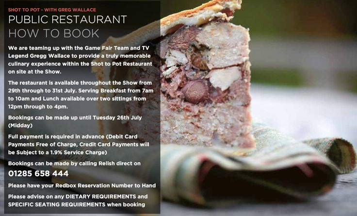 Fancy a Gregg Wallace meal whan you are at The Game Fair?