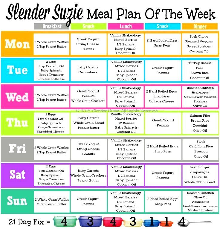 Slender Suzie 21 Day Fix Meal Plan Of The Week Need More Help And Meal Plans Let Me Know How I Can Help 21 Day Fix Meal Plan 21 Day Fix