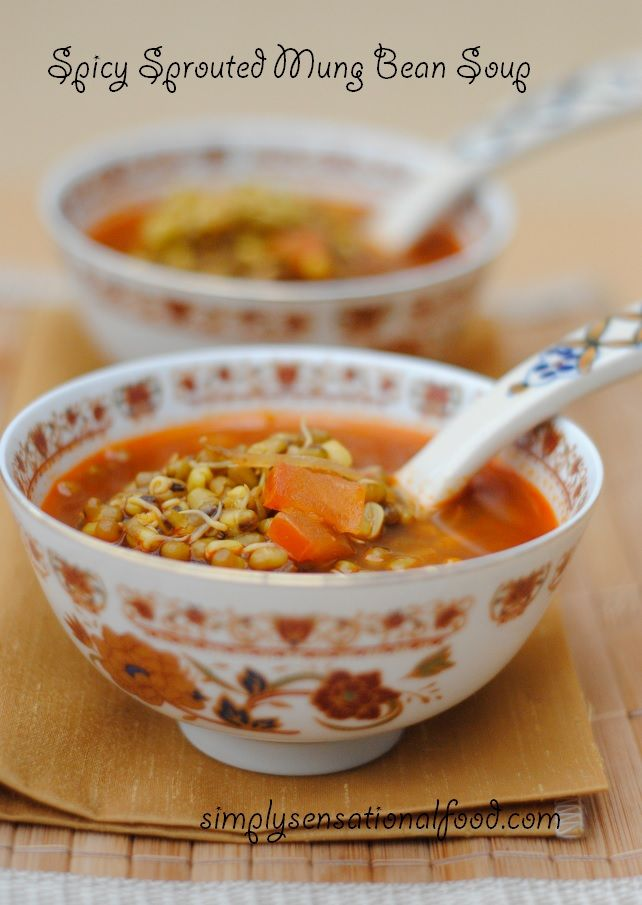 simply.food: Hot and spicy sprouted mung bean soup.