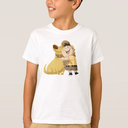 Russell hugging Dug - Pixar UP! T-Shirt - click to get yours right now!