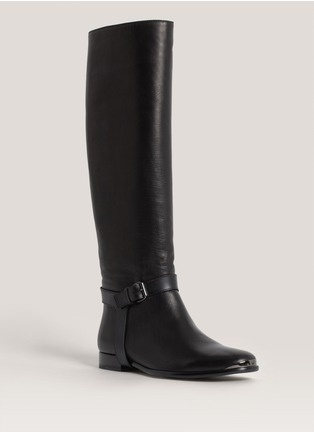Lanvin - Knee-high flat leather boots | Black Knee/Thigh Boots | Womenswear | Lane Crawford - Shop Designer Brands Online