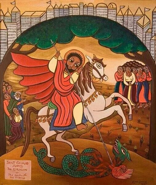 ETHIOPIAN Icon__St.George > Ethiopian Orthodox drawing