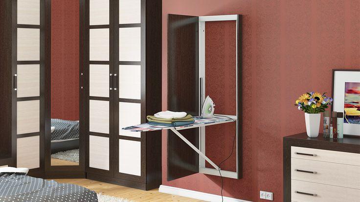 Панель с зеркалом со встроенной гладильной доской Тип-1 купить за 8 990 руб | Мебельный интернет-магазин ТриЯ