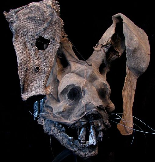 SCARY RABBIT MASK, Hartley The Rancid Hare, quality latex face mask