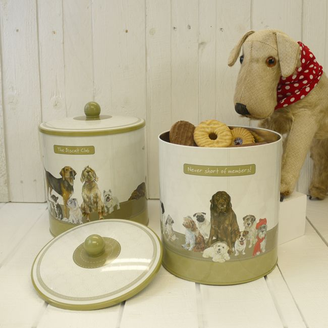 The dog Biscuit Club biscuit tin because everyone loves a biscuit!