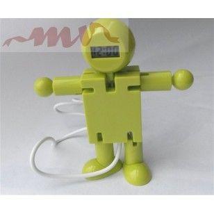 Robot antistres cu ceas si patru porturi pentru usb