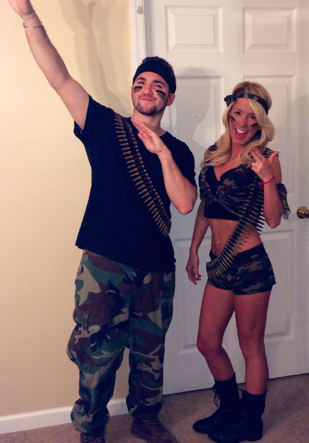 Sexy army couple costume-2891