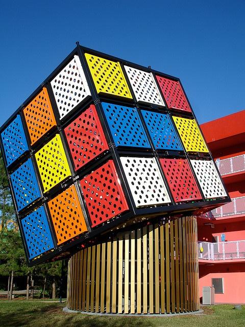weird roadside attractions | Unusual Roadside Attractions / huge Rubiks Cube