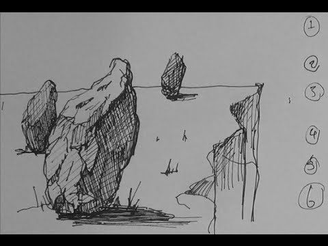▶ Pen and Ink Drawing Tutorials | 6 ways to create depth in your drawings - YouTube