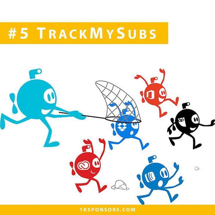 Sponsor #5  TrackMySubs | El servicio web que te permitirá controlar todas tus #suscripciones.