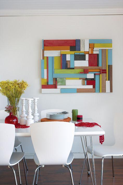 Περιοδικό Έτσι Απλά | Αφηρημένη τέχνη - recycling wood
