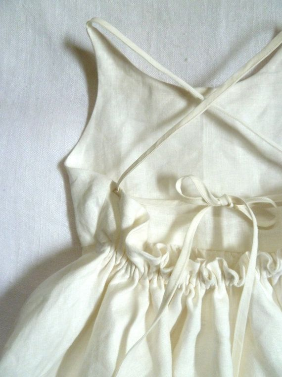Linen Peter Pan Collar Dress by HarrietsHaberdashery on Etsy, $92.00