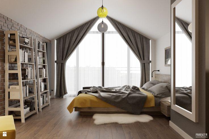 Sypialnia styl Skandynawski - zdjęcie od PRØJEKTYW | Architektura Wnętrz & Design - Sypialnia - Styl Skandynawski - PRØJEKTYW | Architektura Wnętrz & Design