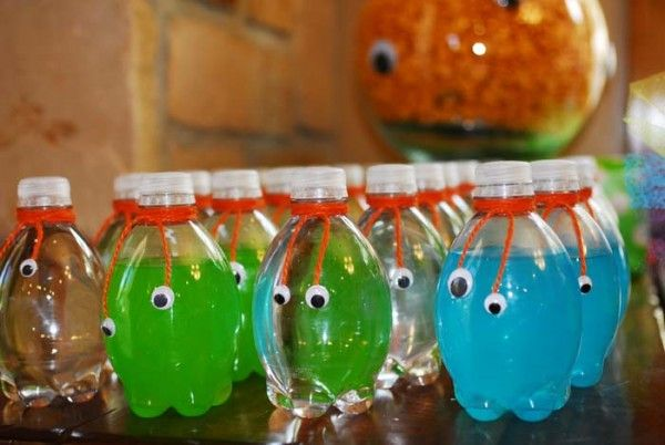 So fun for a monster party. But depending on the color of the drink and where/how you place the eyes, you could use it for other themes, too.