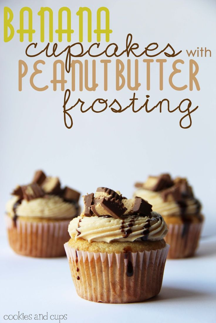 Banana Cupcakes with Peanut Butter Frosting | Recipe ...