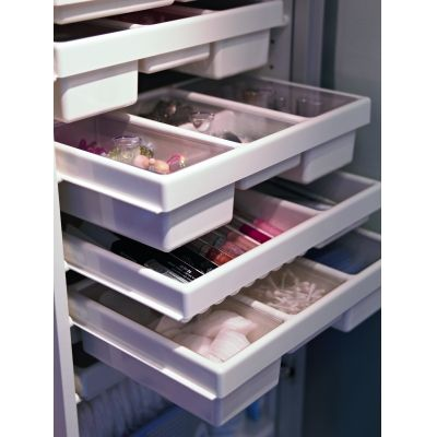 Drawers to organize jewelry and cosmeticsMakeup Organic, Small Bathroom, Makeup Storage, Bathroom Storage, Ikea Makeup, Bathroom Ideas, Bathroom Sinks, Bathroom Organic, Ikea Bathroom