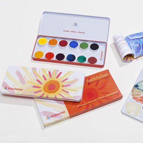 Stockmar Gouache Paint Set 12 Colours - Honeybee Toys