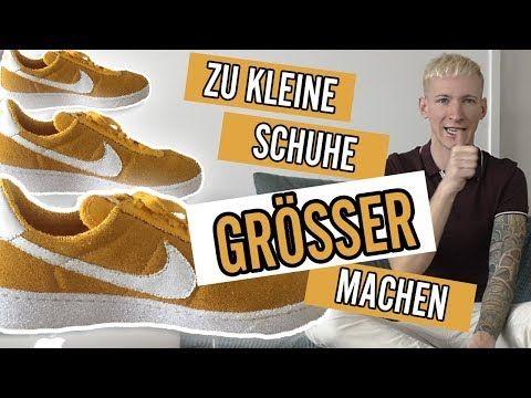 Zu Kleine Schuhe Grosser Machen Thajo Youtube Schuhe Schuhe Zu Eng Sneaker