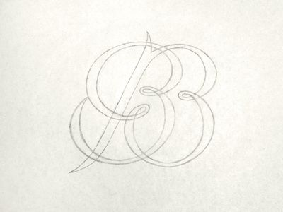 Bb monogram sketch fonts monograms and different fonts for B b design
