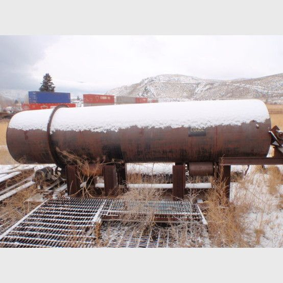 3 ft. x 12.5 ft. dryer supplier world wide | Used rotary 3' x 12.5' dryer for sale - Savona Equipment