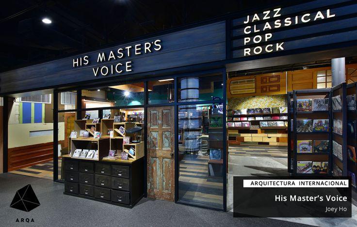 La motivación de esta tienda de discos es inspirar la vida de las personas con soluciones musicales integradoras.  Más sobre el proyecto: http://arqa.com/arquitectura/masters-voice-record-shop-hong-kong.html arquitectura   internacional