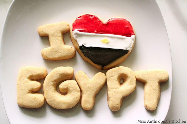 Egyptian Flag Sugar Cookies
