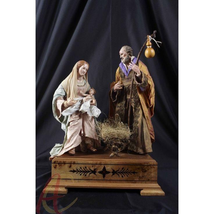 Scena Natività completa Ferrigno in terracotta 700 napoletano presepe san gregorio