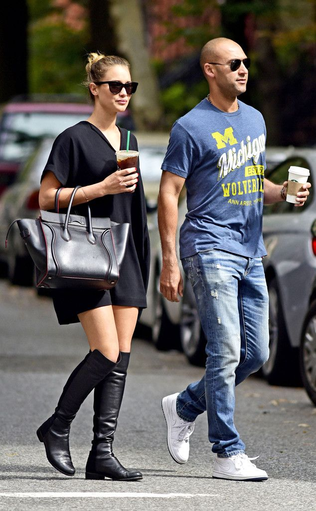 Retirement looks good on Derek Jeter! The hunky guy, in aviators, seemed oh-so-relaxed on a stroll with his girlfriend Hannah Davis, in cat-eye sunnies!