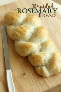 Rosemary Braided Bread  - the easiest yet most impressive bread you will ever make!