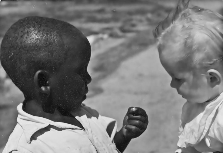 Friends. Northern Rhodesia in 1950's. Picture by Osmo Vartiainen.