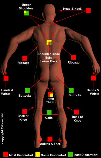 Best 25 tattoo pain chart ideas on pinterest tattoo for How much does a thigh tattoo cost