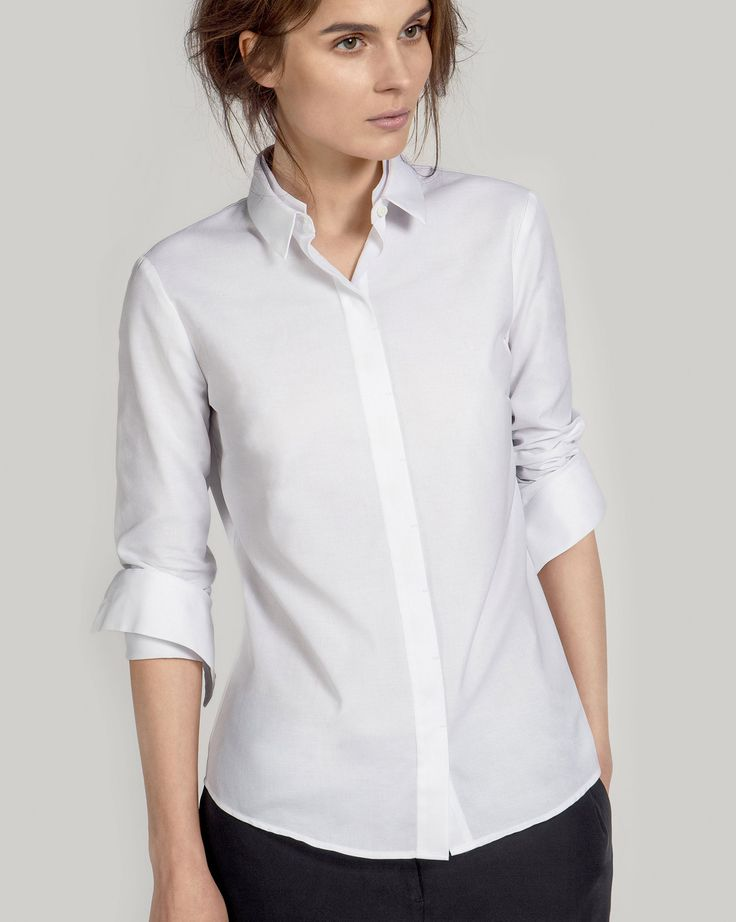 OVO Things Oxford Shirt is a slim fit wardrobe staple from the finest white Oxford from Caccioppoli.