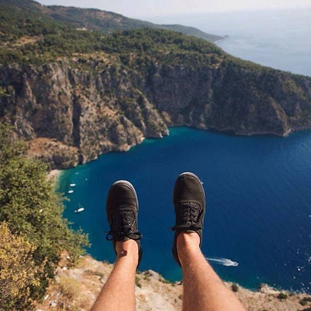 Would you have liked to be here, overlooking the stunning views of Butterfly Valley from 350 meters over the pristine waters of this natural treasure?