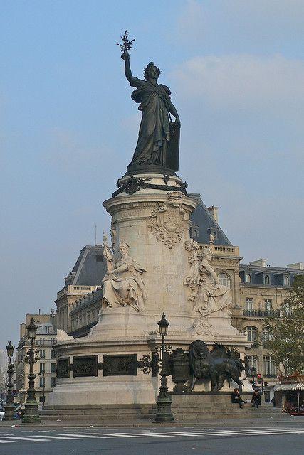 Monument in Place de la République   Flickr - Photo Sharing!
