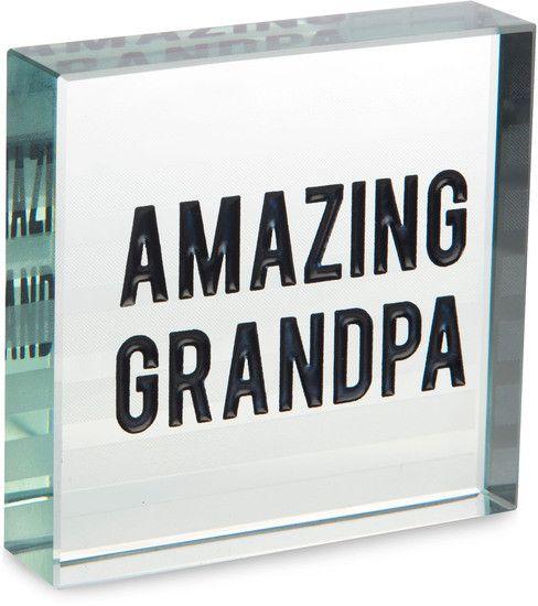 Amazing Grandpa - Glass Plaque