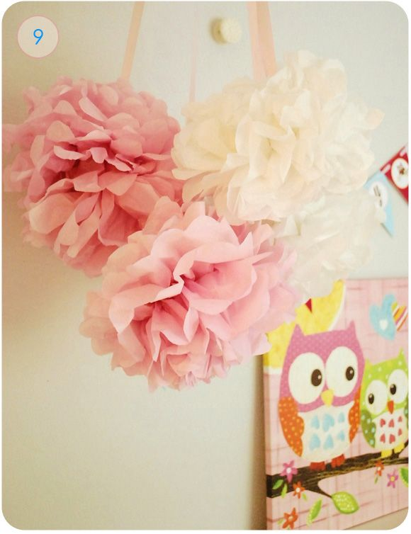 Make these adorable pom poms at a fraction of the price than the store bought ones.  #pom #diy #nursery #babysdreamBlue Paperie, Pompom, Tissue Paper Poms, Parties, Tissue Pom Poms, Tissue Paper Flowers, Diy Tutorials, Paper Pom Poms, Tissue Flower