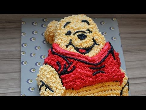 winnie the pooh bear cake how to with icing / no fondant - YouTube