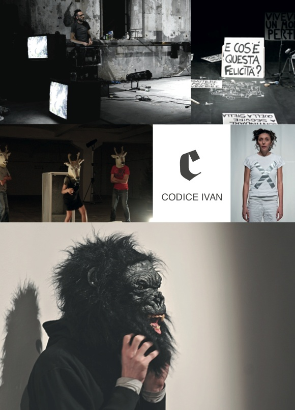 """""""Codice Ivan"""" was born in 2008 from the encounter of Anna Destefanis, Leonardo Mazzi and Benno Steinegger.  The group's works moves from the performing arts/theatre fields to the investigation of different formats.  In 2009, """"Pink, Me & The Roses"""", the debut work receives """"Premio Scenario"""", Italian theatre's leading awards celebration. """"Codice Ivan"""" is now focusing on a research process that will lead to the presentation of a new work: """"GMGS_What the hell is happiness""""?  Since 2009 Codice…"""