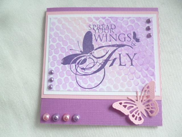 kaart, vlinder, te gekke krijtjes