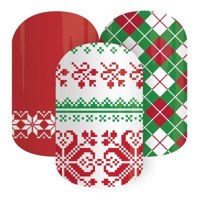 Jamberry Nails - Christmas Socks (Half Sheet) *Holiday Wraps* null