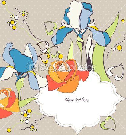 Декоративный дизайн для поздравительной открытки и приглашения — Stock Illustration #31451167