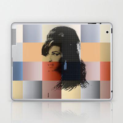 Amy Winehouse   Esperantos   Dot-file #3 Laptop & iPad Skin by Esperantos - $25.00