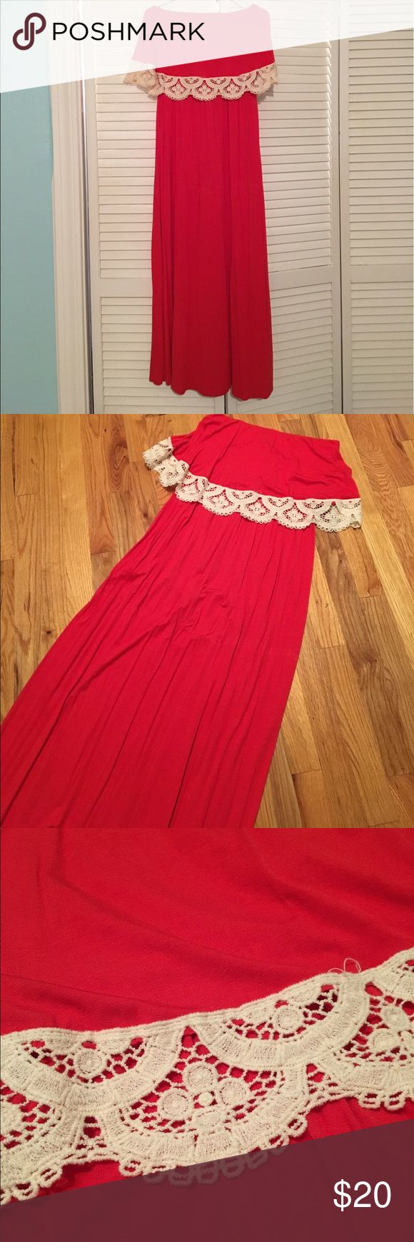 ⬇️Final Price Drop⬇️ Red Maxi Dress Red maxi dress. EUC (however, I did cut off the black straps for the hanger). Worn once. Love Culture Dresses Maxi
