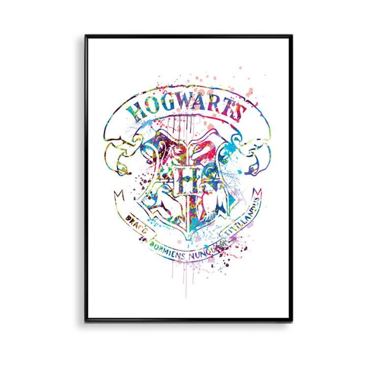 SALE! Hogwarts Crest Print, Harry Potter Watercolor, Movie Poster, HArry Potter Art, Home Decor, Nursery, Wall Art, Kids Room Decor,ET249 by InstantGoodVibes on Etsy