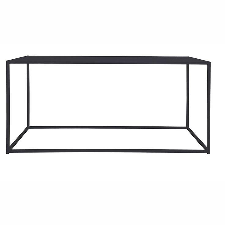 Domo Rectangle sohvapöytä, musta ryhmässä Huonekalut / Pöydät / Sohvapöydät @ ROOM21.fi (1023799)